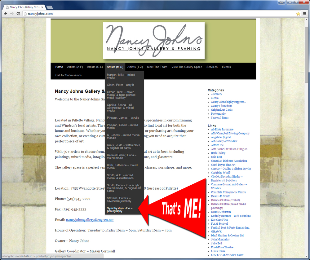 Screen shot from the website with big arrow by me :)