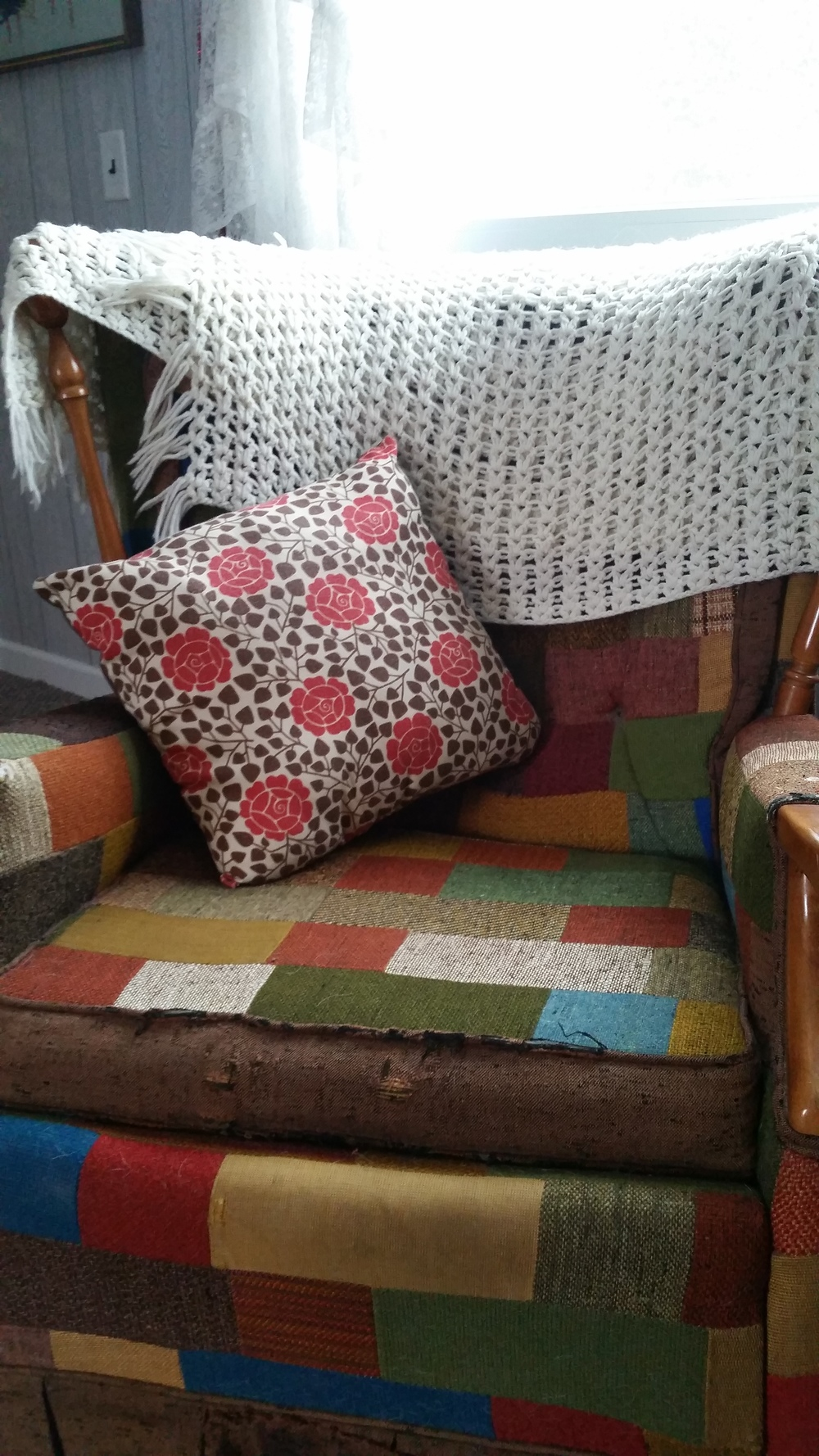 Our patchwork chair that we love so much.