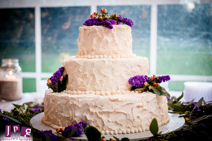 Beautiful cake done by a friend of the brides.