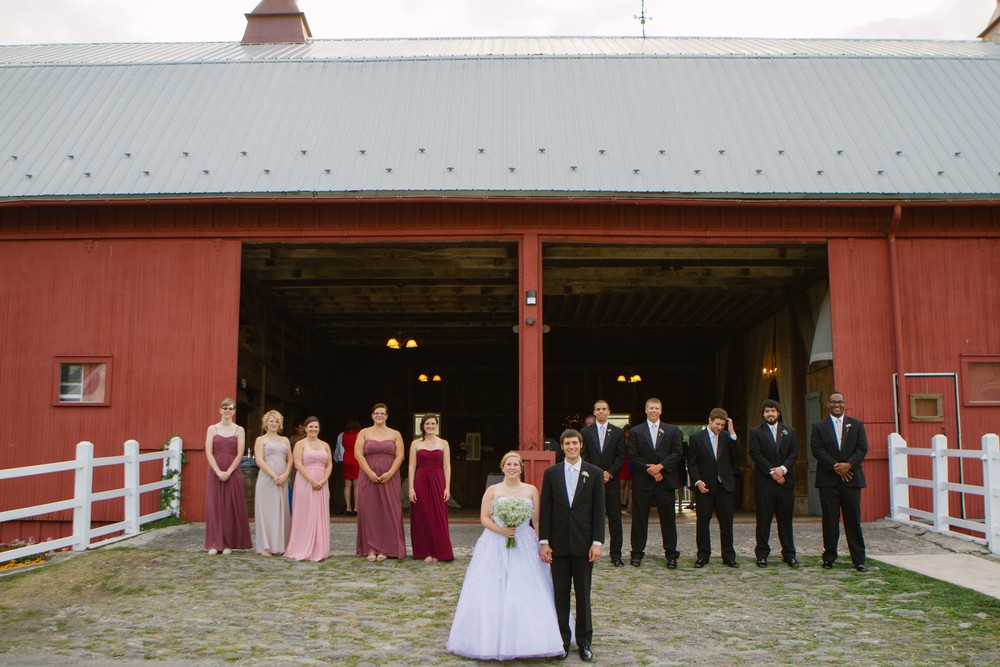 Kaiti and Jon Gilbert celebrated their wedding at Friedman Farms, Dallas, PA in August 2014. They booked far in advance.