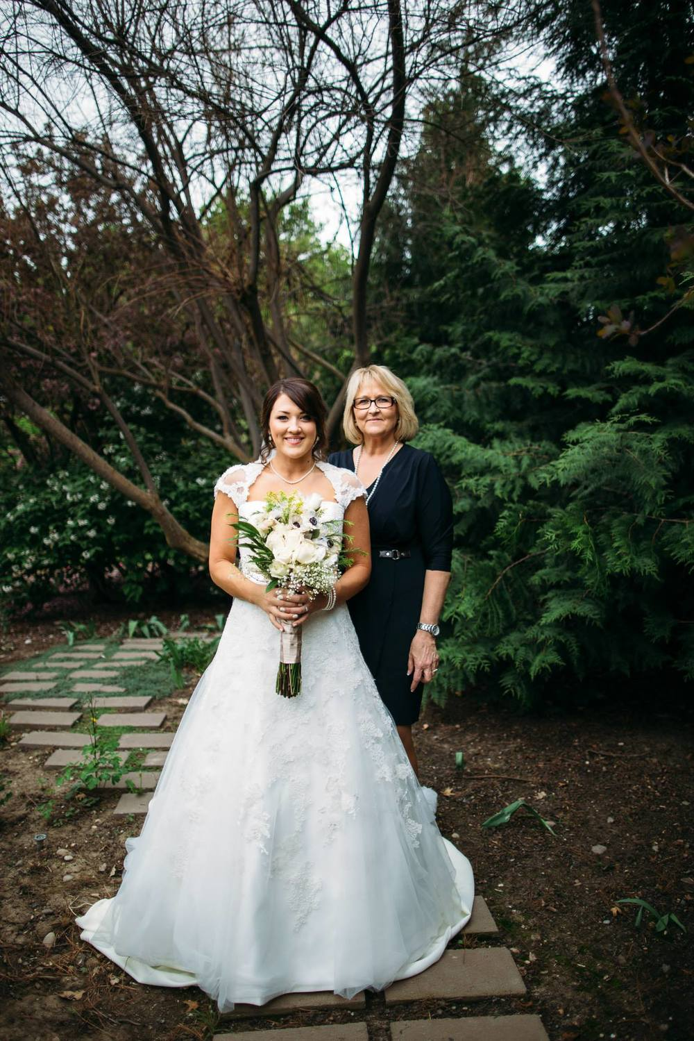 Jaimi with her mom at their wedding in Emmet, Idaho.