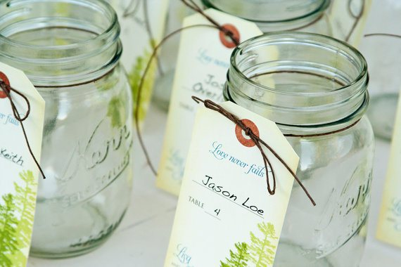 Mason Jar Tags by Mavora Art and Design