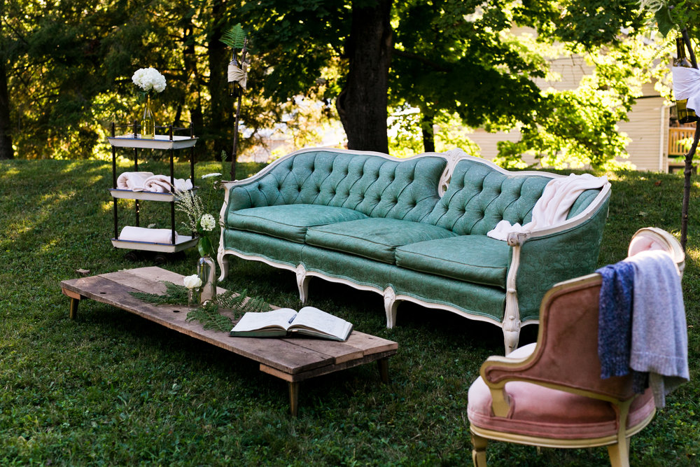 Relaxing lounge set-up at a wedding last year. Photo by Kelley Spurlock.