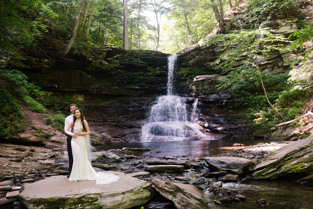 An elopement at Rickett's Glen was one of the most relaxed days of the year - Kelley Spurlock Photography