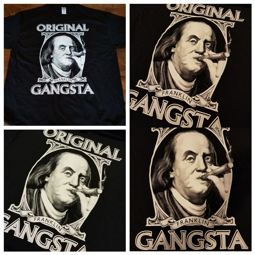 LIMITED EDITION T-SHIRT - ORIGINAL GANGSTA - Small / Medium / Large / X-Large - ONLY $16.95 and FREE SHIPPING!!! Enter Quantity below and the Size then Add to Cart.