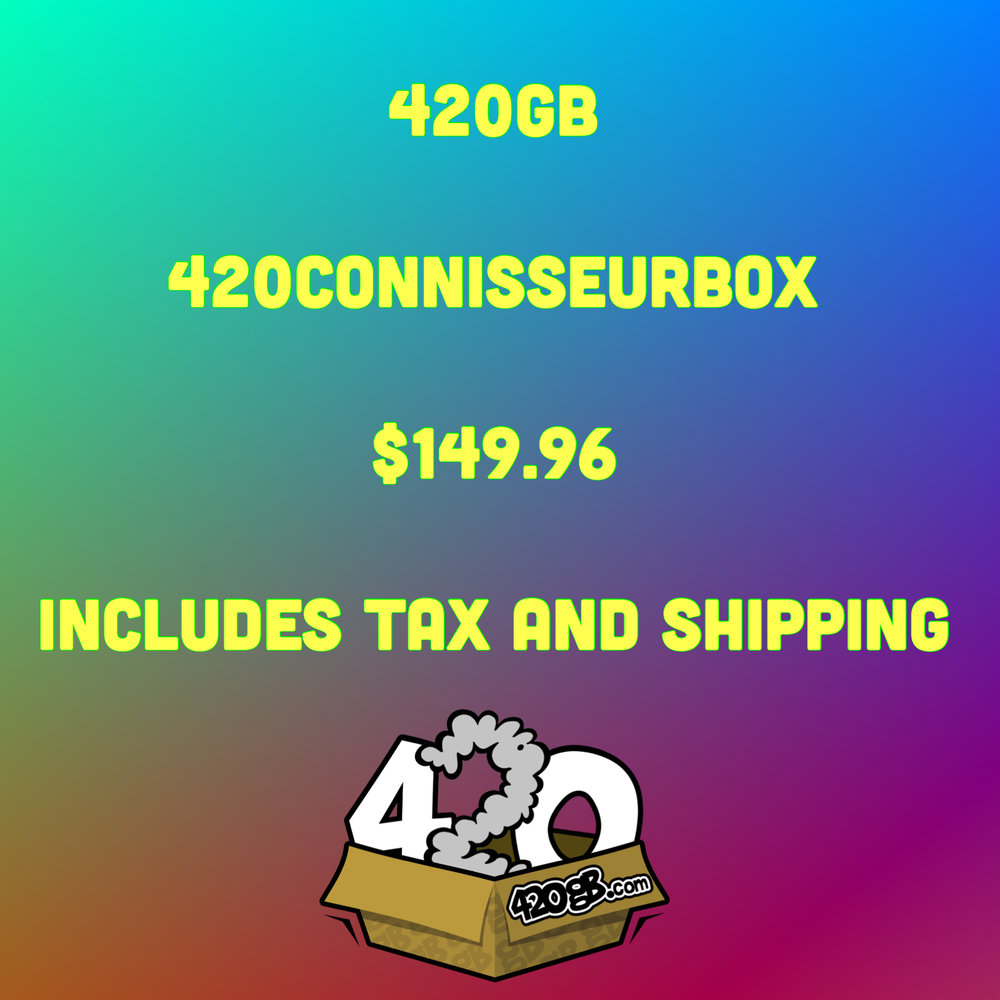 ARE YOU A CANNABIS AFICIONADO? HAVE GOOD TASTE AND NICE GEAR?WELL LOOK NO FURTHER THAN THE 420CONNOISSEURBOX.THIS IS A ONE-TIME SHIPMENT - $149 CHARGED ONCE (A $225+ Value)(Box = $127.50 + Tax = 8.2% + SH = $12 = $149.96 ALL IN) - Limited Quantities Available.