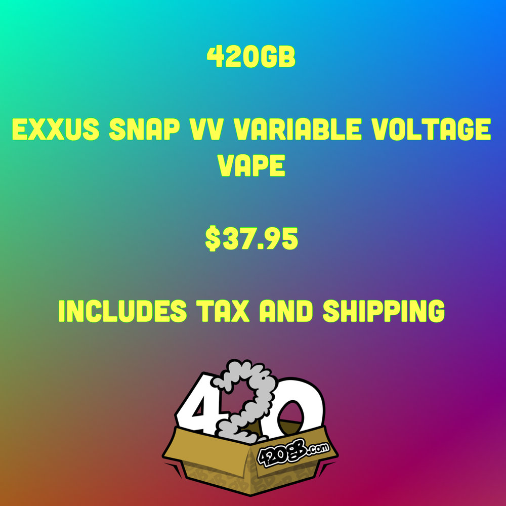 """This stealth little unit is easily concealed at only 3"""" tall by 1"""" wide is an easy little device to toss in the pocket. It has a magnetic connection - just slip the atomizer into the chamber on the chassis and it snaps into place.The Exxus Snap VV has the ability to accommodate larger cartomizers and is easily charged with a Micro USB.The built-in battery is powerful enough to sustain several vaping sessions before needing a recharge. - ORDER TODAY!!!"""