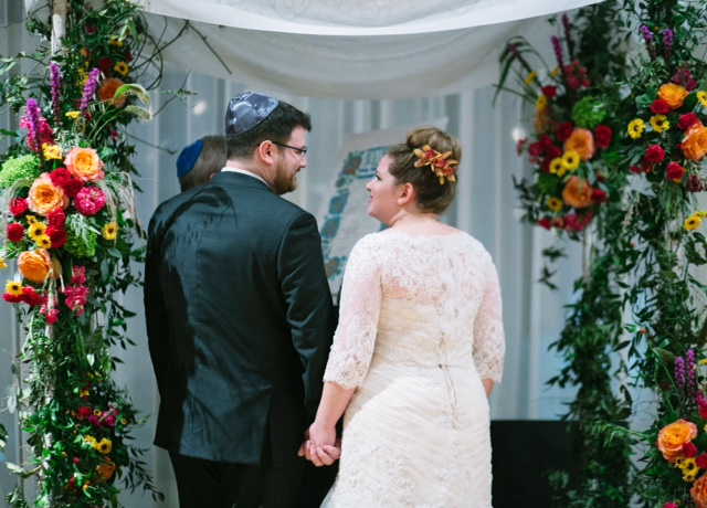 Chuppah with Bright Flowers