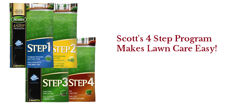 Scott's 4 Step Lawn Care Program