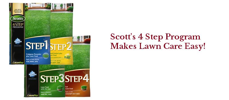 Scott's 4 Step Lawn Care Program