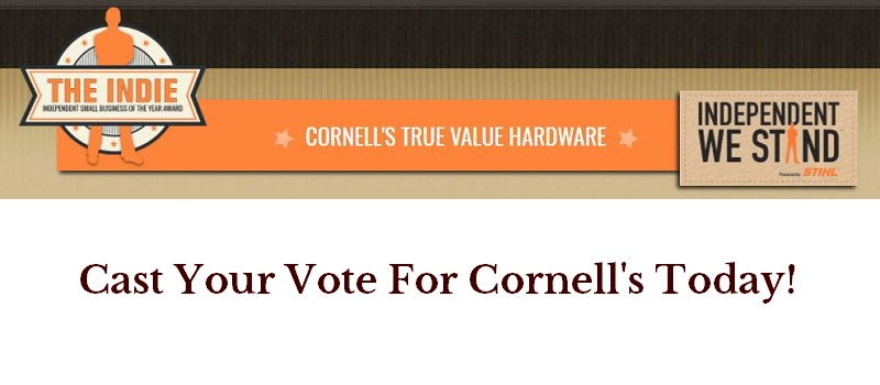 Cast Your Vote For Cornell's Hardware