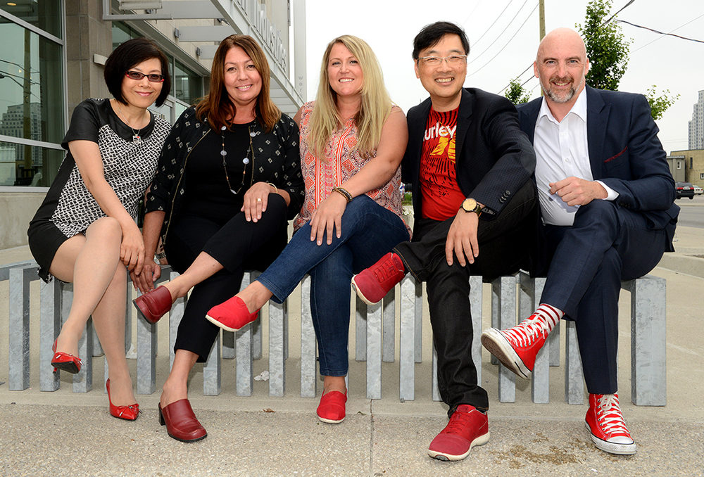 From left to right: Amy Cheung, Colleen Lindemann, Tonia Richardson, Philip Yan, Graham Lewis – Photo taken by Sue Reeve.