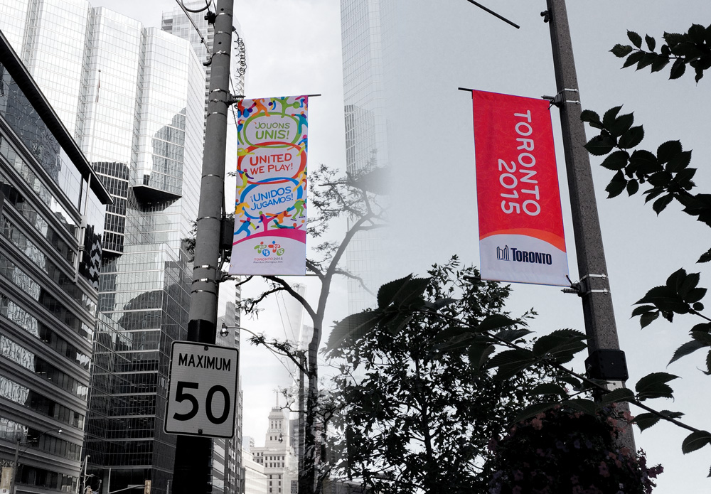 Toronto 2015 Pan Am Street Signs