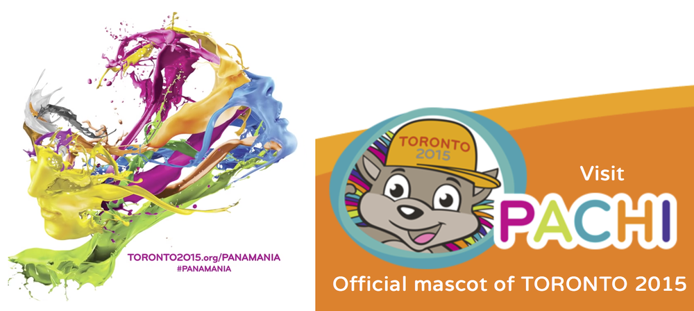 Panamania and Pachi symbols for Toronto Pan Am