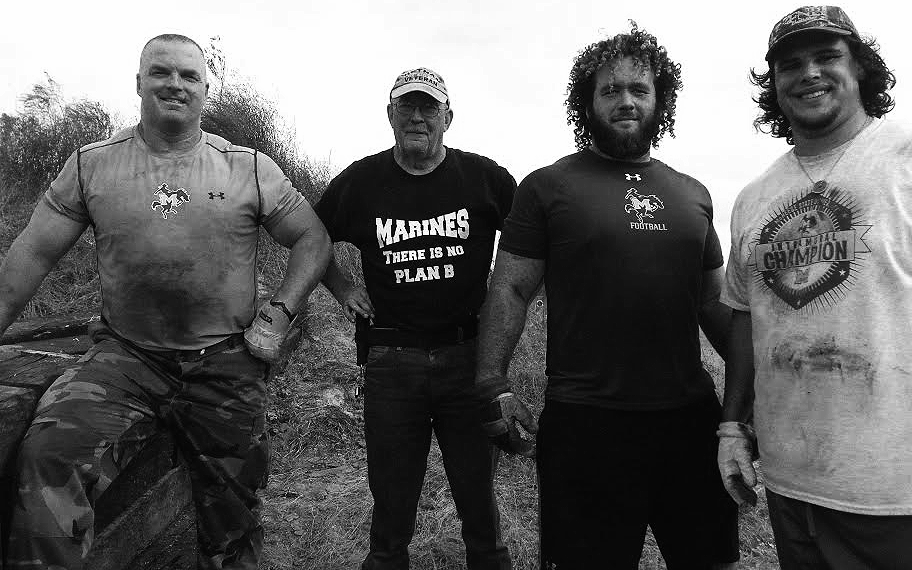 From left: Jason Little, Lee Perkins, Thor Miller, and Nick Gorman