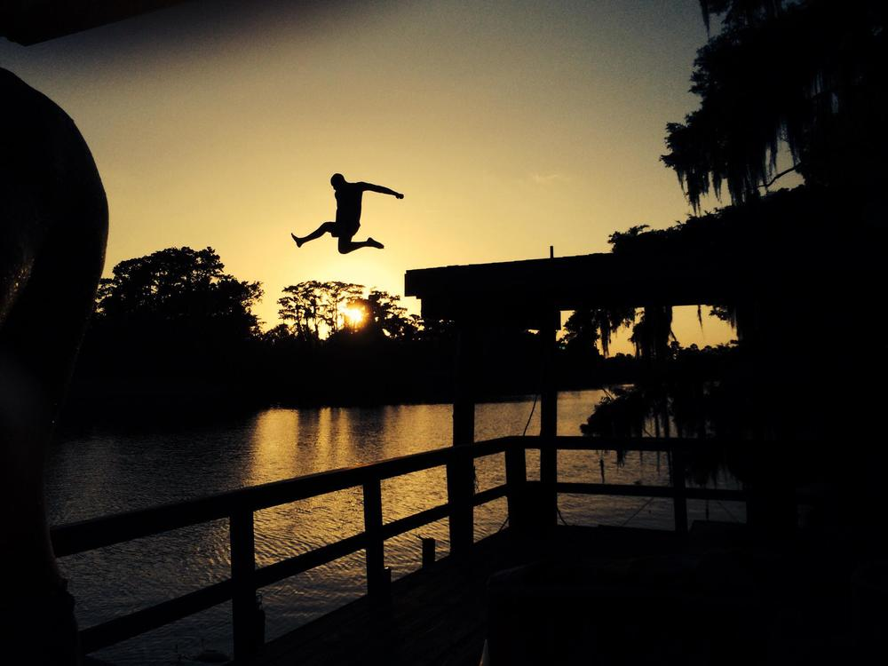 """Photographer Chad Whited """"Literally Leaping Over the Sun"""""""