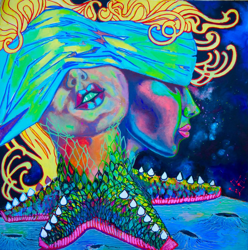 Painting by Local Artist Erica Nelson. Entitled 'Body, Soul, Spirit'