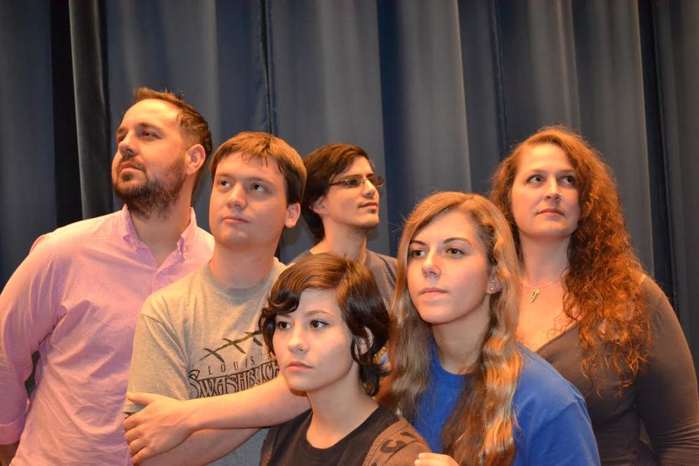 Photo from:Greg Stratton. From left to right:Eric Thibodeaux, Sean Hinchee, Alexandra Landry, Joseph Comeaux, Rebecca Harris, and Jennifer McHaffie.