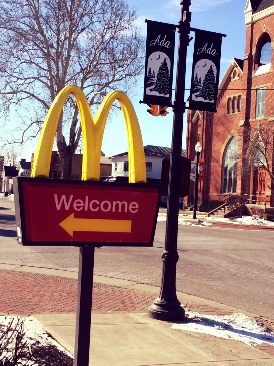 What kind of welcome do you need from McDonald's to feel welcome?  Red carpet and dancing girls?