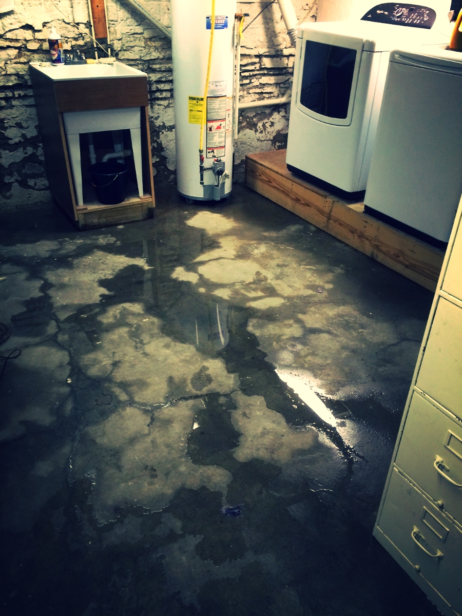 Our basement floor makes a squishing sound when we step on it. Is that bad?