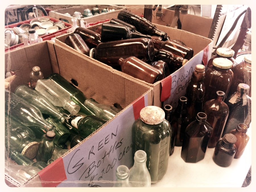 """""""He got real bad with the bottles."""" Erwin Nelson's bottle collection, now available for you to have, enjoy, and store."""