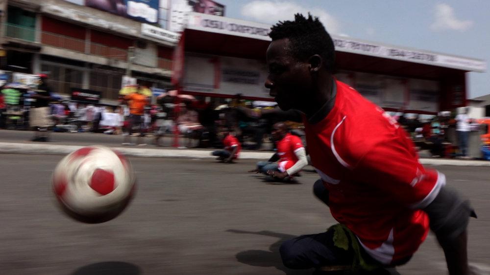 Polio survivors sk8 soccer (rushes) -
