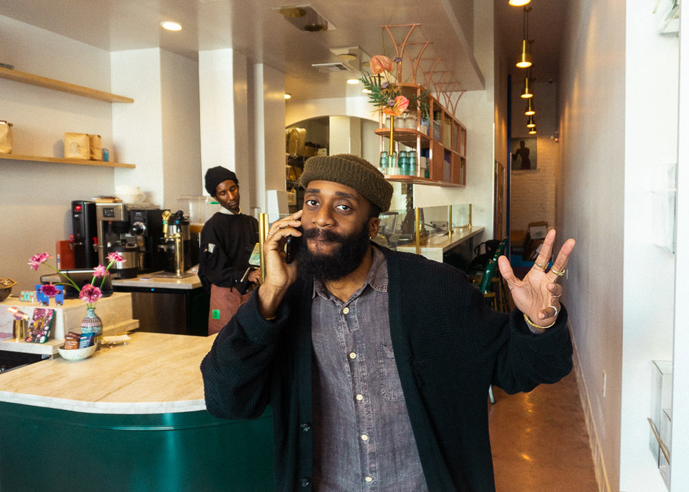 The coffee brains behind the operation and a homie forever, Kene.