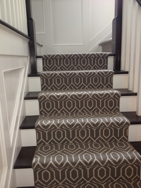 This Staircase Is Often Carpeted, But It Can Also Possess Wood Risers With  Stained Or Painted Treads. Having A Carpeted Stair Runner Does Allow ...