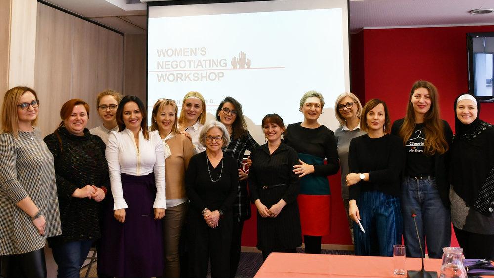 Women's Negotiating Workshop. Bosnia, 2018.