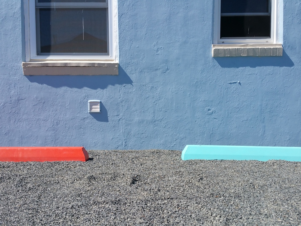 Red and Blue Curb