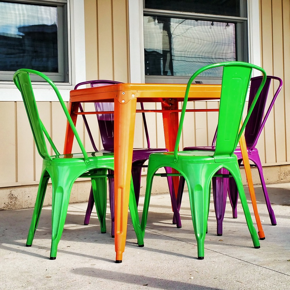 Green and Purple Chairs