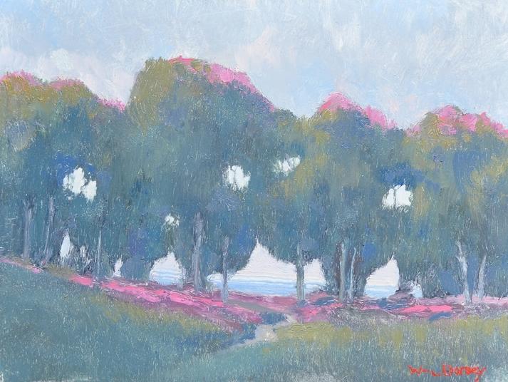 "Carpinteria Bluff, oil on board 9"" x 12"" Beautiful California landscape painting."