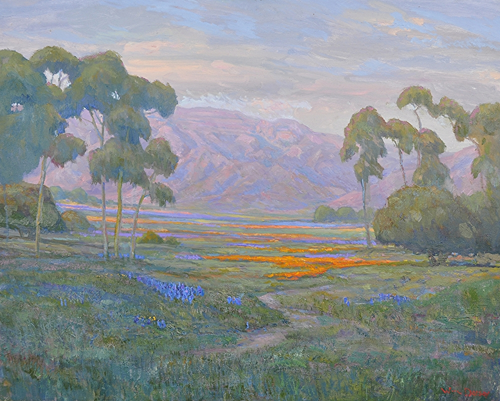 "Rancho Matilija, Ojai, oil on canvas 24"" x 30"""