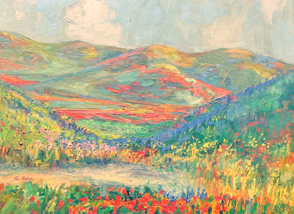 "Antelope Valley Foothills, oil on canvas 18"" x 24"" William B. Dorsey is a 1960 graduate of the Famous Artist Course, Westport, Connecticut"