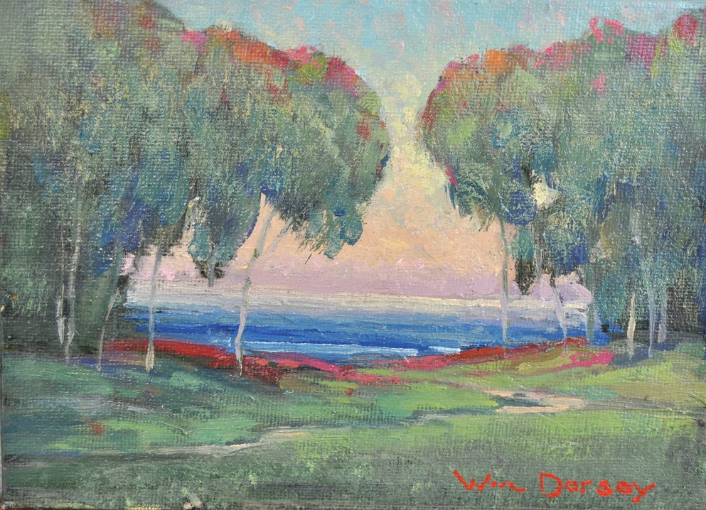 "Douglas Family Preserve Study, Santa Barbara, oil on canvas 8"" x 10"""