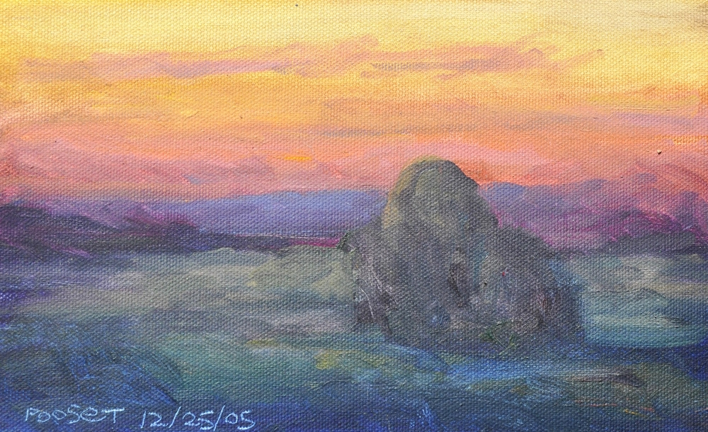 "Pooset, oil on canvas 8"" x 10"" by renowned impressionist painter William Ballantine Dorsey."