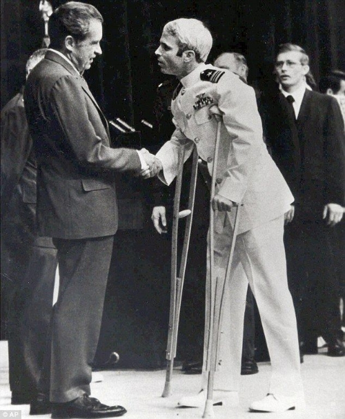 US President Nixon and John McCain