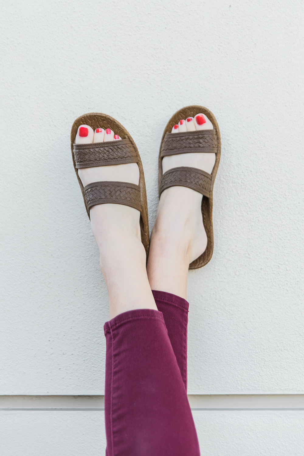 Pali Hawaii   Classic Jandal ®    in Brown.