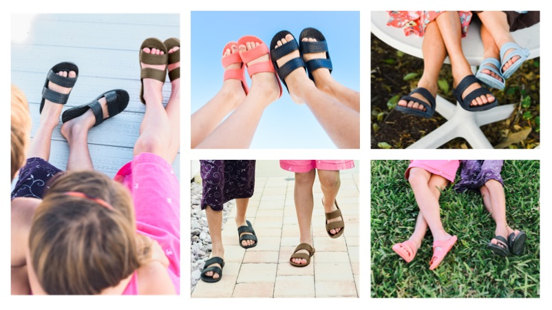 Kids Jandals - Brown, Black, Navy, Pink and Aqua