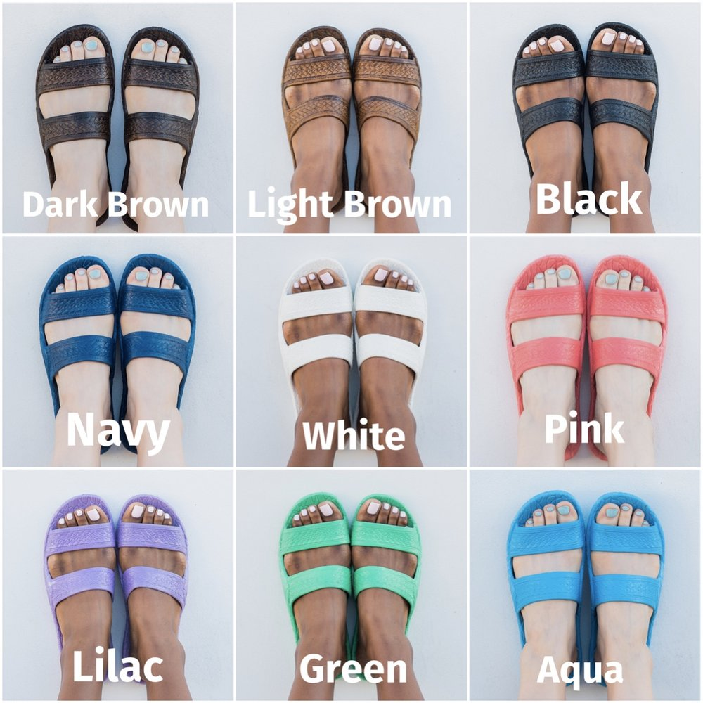 Note: Pali Hawaii Classic Jandals are unisex and available in Standard US Women's Sizes. Men should size one up.