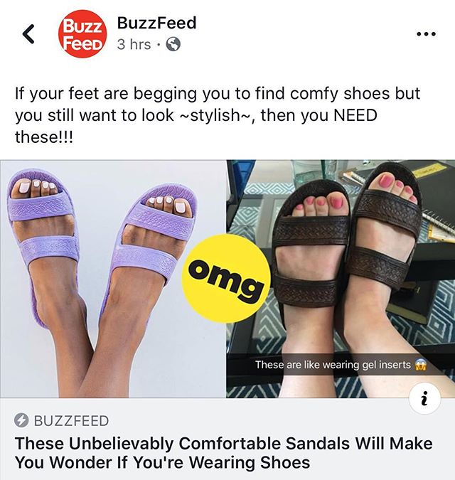 Thanks for the shoutout @buzzfeed! Link in bio #Jandals #palihawaiisandals #palihawaiijandals