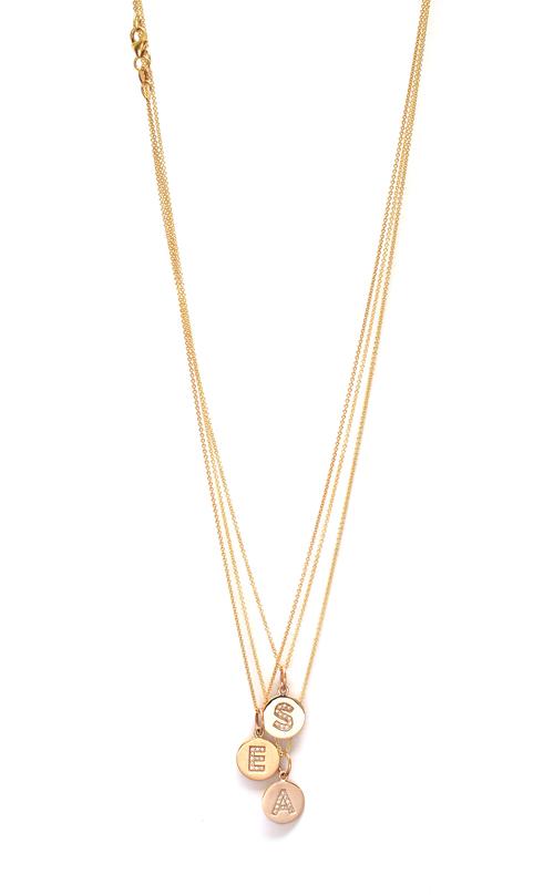 Pav diamond initial disc necklace jennifer tuton pav diamond initial disc necklace aloadofball Images
