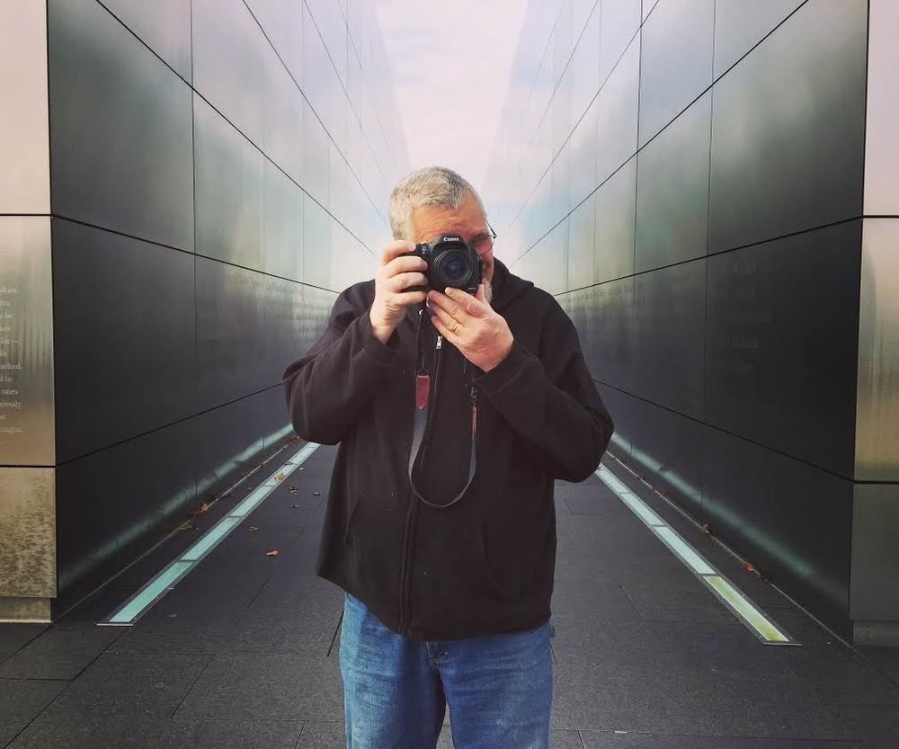 Bill Bayer in Liberty State Park (photo by Christian Niedan)