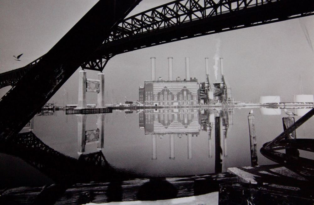 The majestic Pulaski Skyway with the Hackensack River quite calm. Photograph by Bill Bayer.