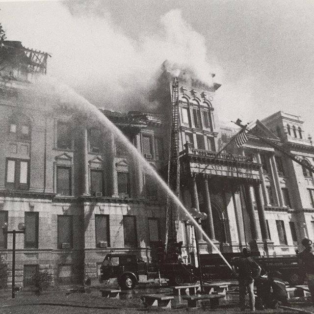 September 12, 1979. Jersey City City Hall Fire.