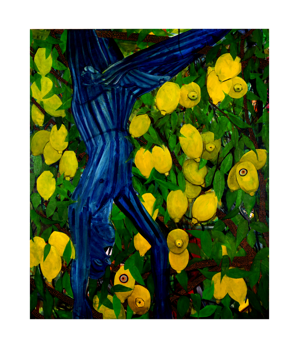 """Vampire in the Lemon Grove,"" 36"" x 46"", oil on canvas, 2015"
