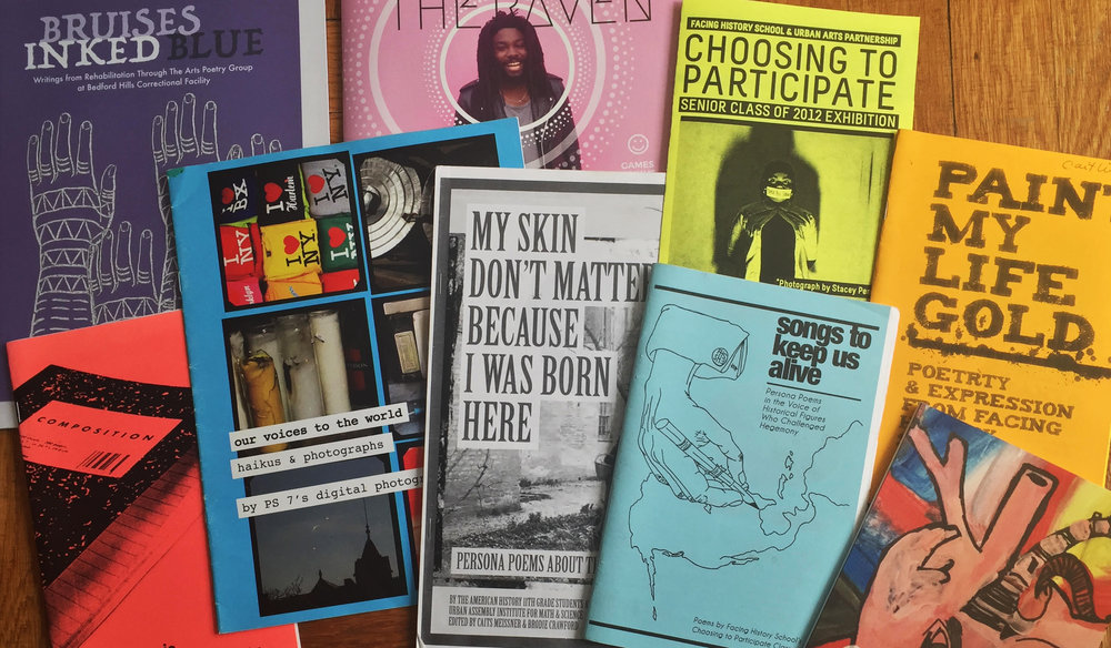 Some samples of student publications over the years; courtesy of the artist