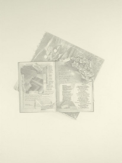 Josephine Taylor,  Blue , 2018, Graphite on paper, 30 x 22 inches.  Image courtesy of Catharine Clark Gallery