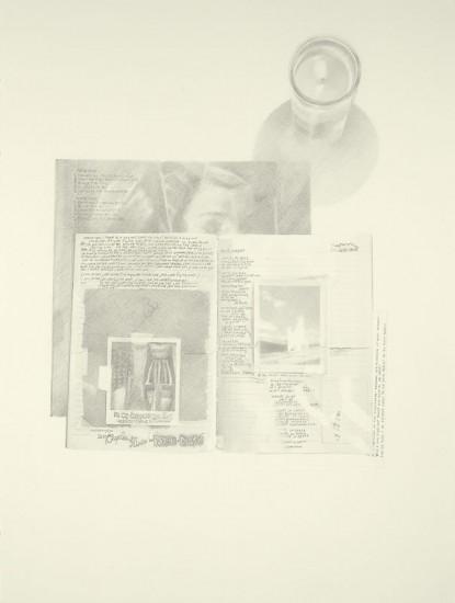 Josephine Taylor,  Jets , 2018, Graphite on paper, 29 3/4 x 22 1/2 inches.  Image courtesy of Catharine Clark Gallery