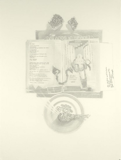 Josephine Taylor,  Homemade Bone , 2018, Graphite on paper, 29 3/4 x 22 1/2 inches.  Image courtesy of Catharine Clark Gallery